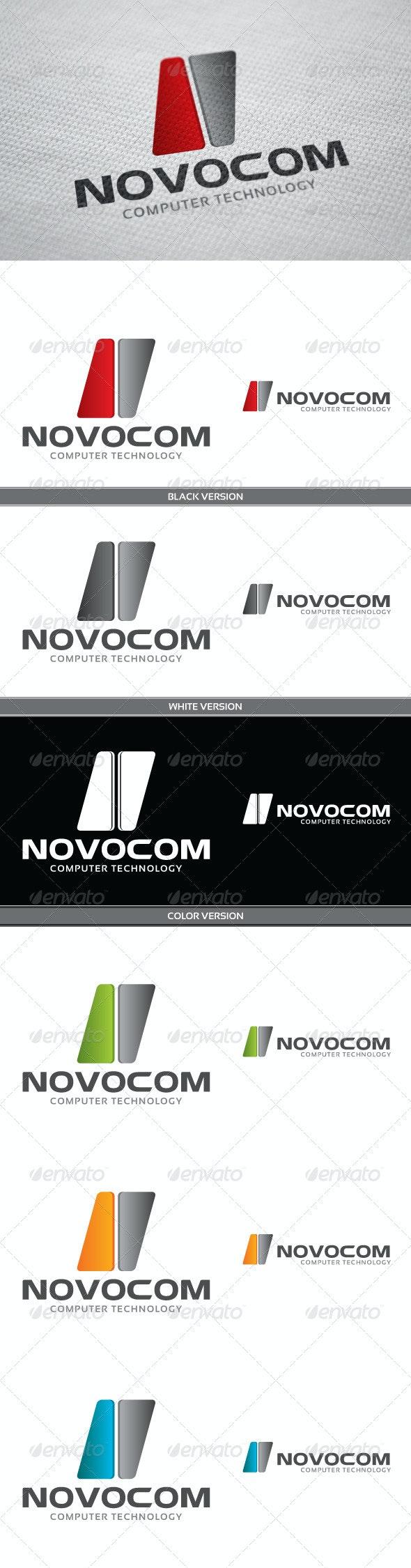 Novocom Logo - Vector Abstract