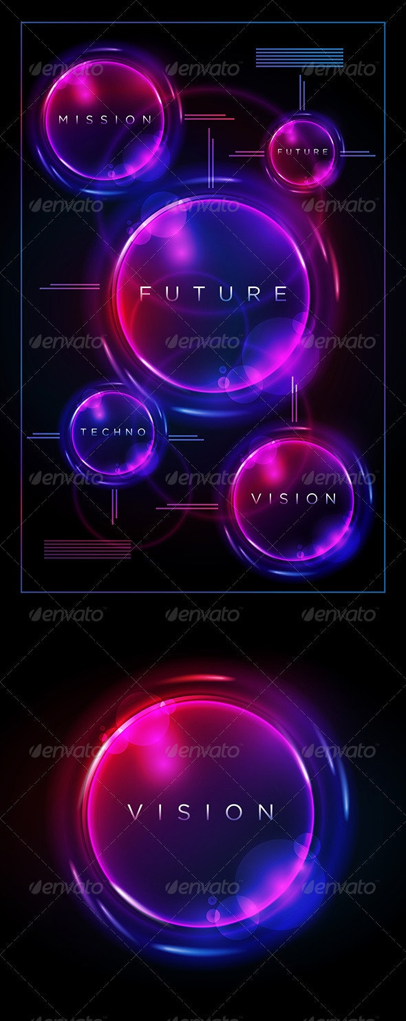 Circle on Black Design Template - Vectors