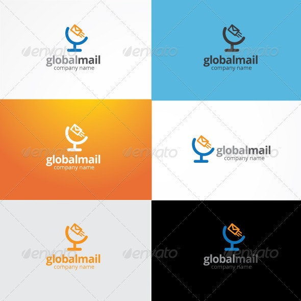 Global Mail Logo - Objects Logo Templates
