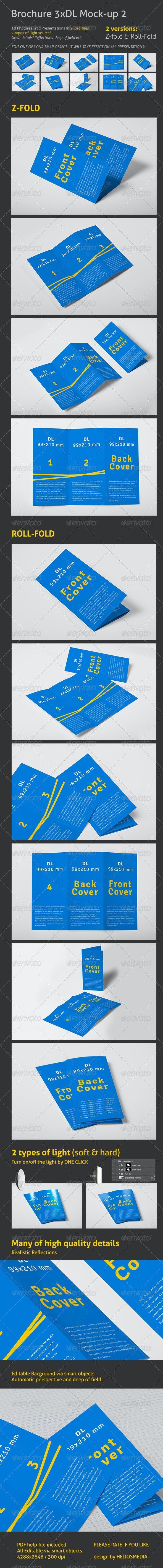 Brochure 3xDL Mock-up 2 - Brochures Print