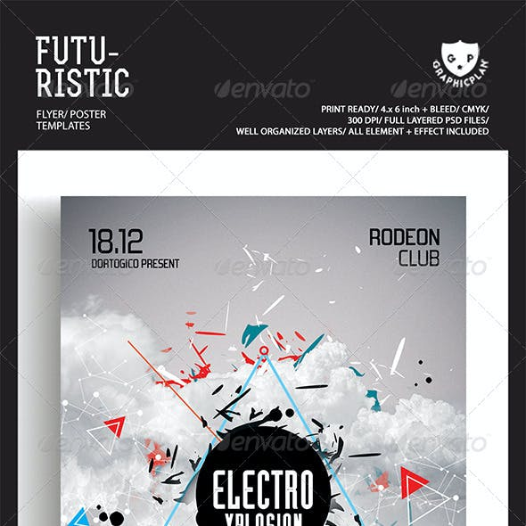 Futuristic Flyer/Poster Templates