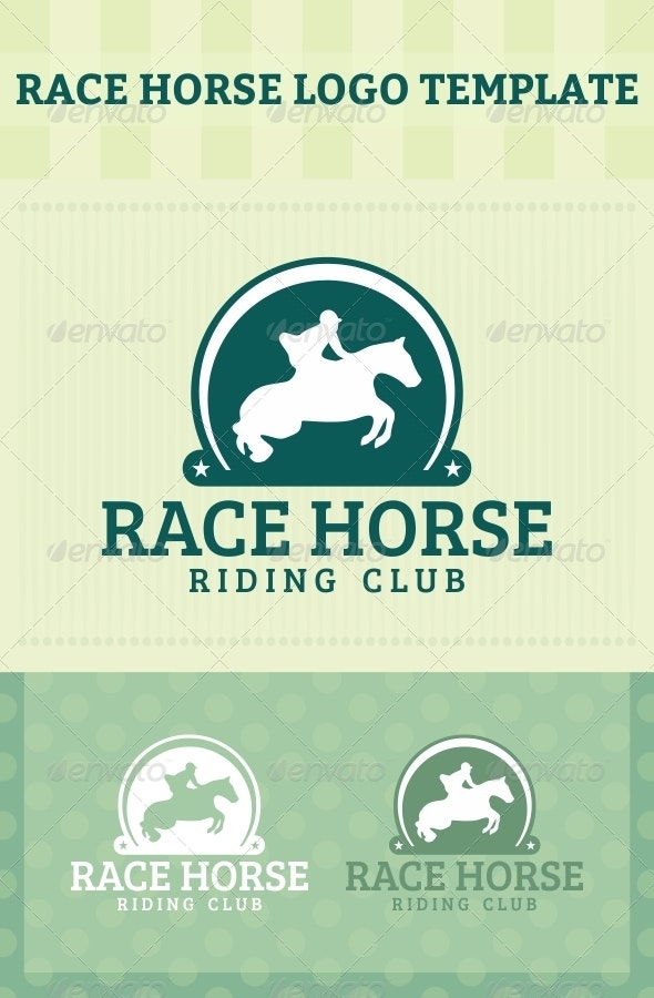 Race Horse Logo - Animals Logo Templates
