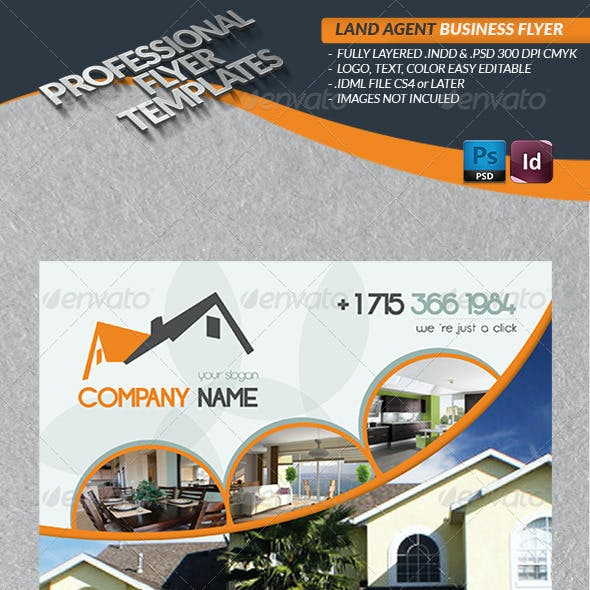 Land Agent Business Flyer