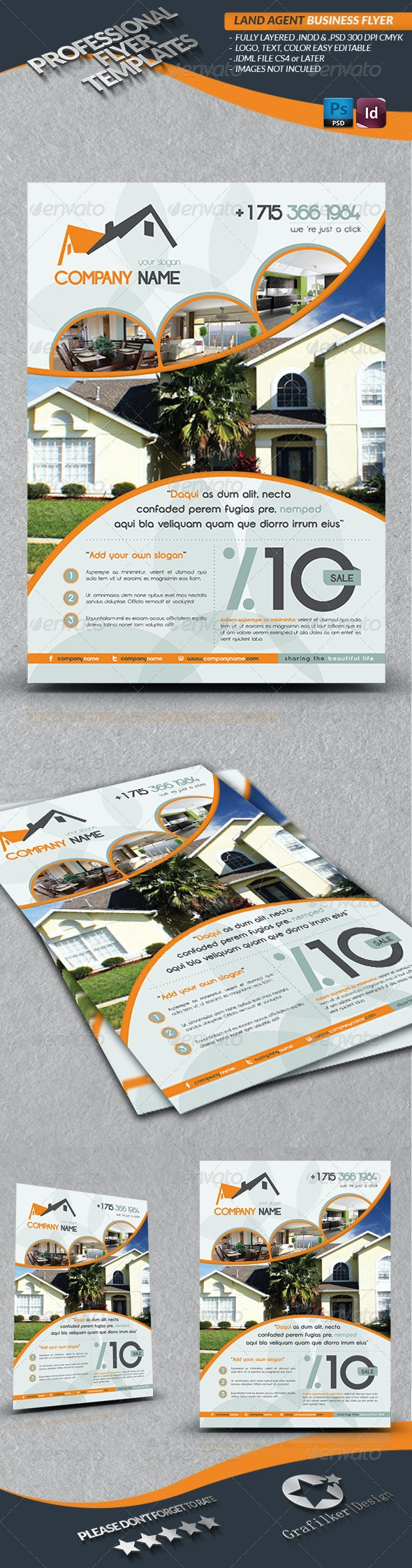 Land Agent Business Flyer - Corporate Flyers