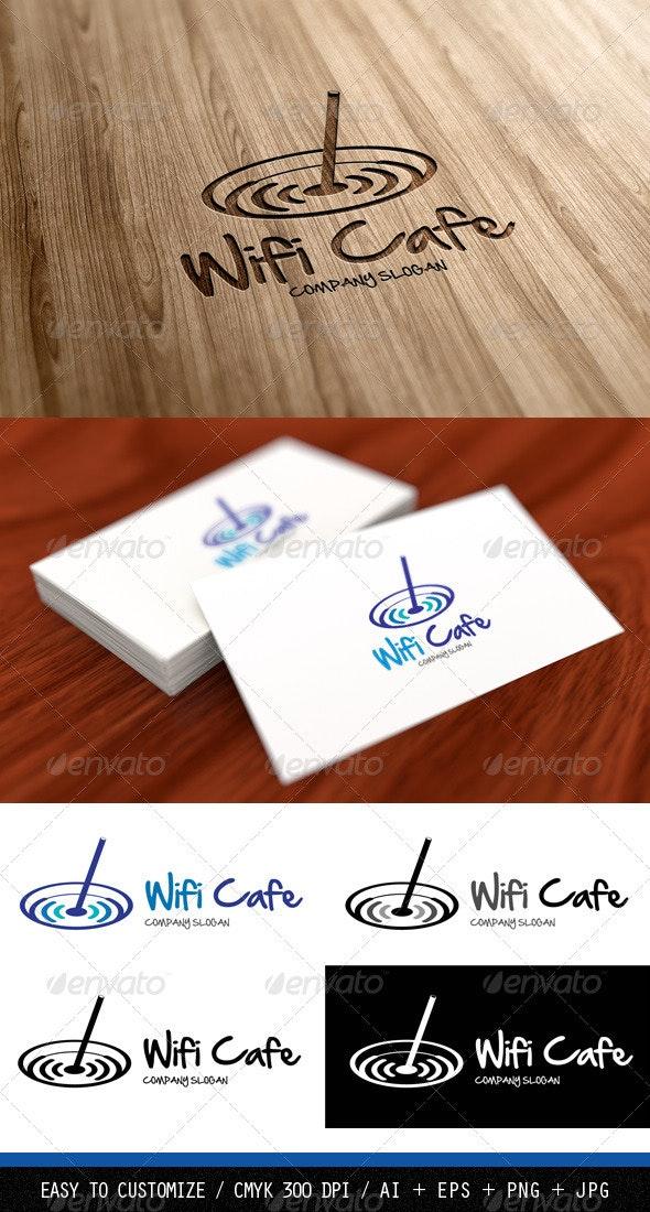 Wifi Cafe Logo Template - Vector Abstract
