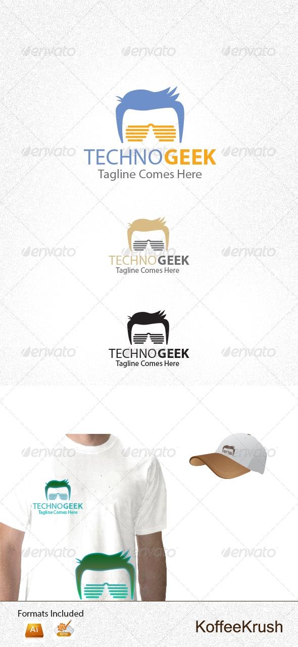 Techno Geek Logo - Humans Logo Templates
