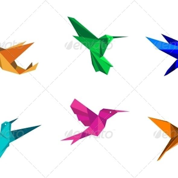 Origami: Hummingbird - Instructions in English (BR) - YouTube | 590x590