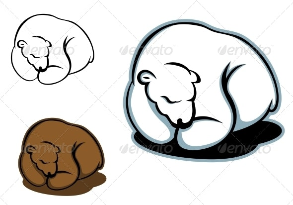 Sleeping Bear - Animals Characters