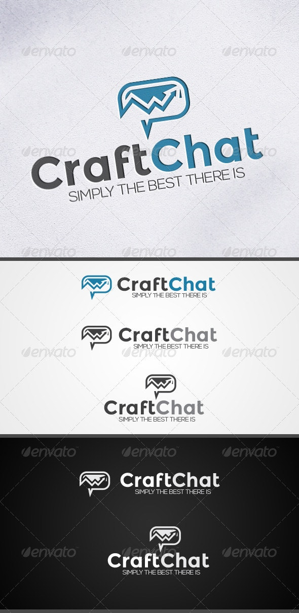 CraftChat - Chat and Communications Logo - Vector Abstract