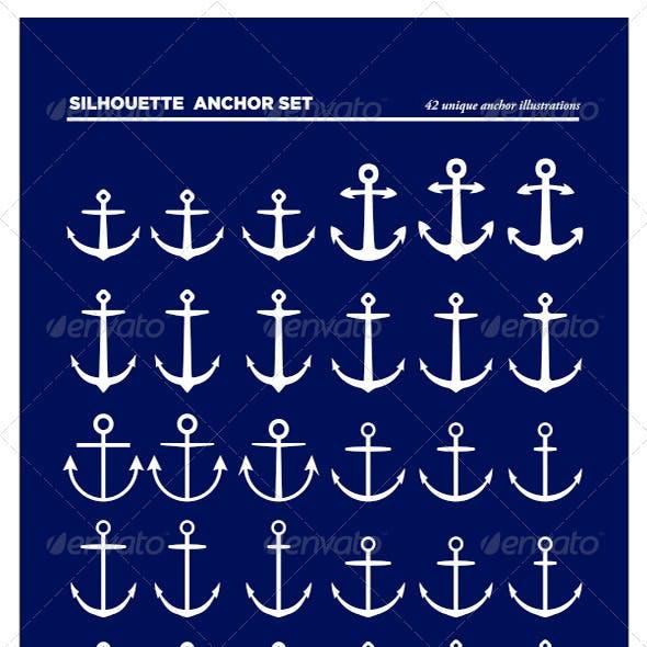 42 Anchor Silhouettes