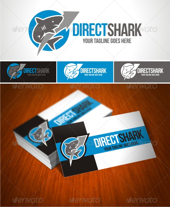 Direct Shark Logo - Animals Logo Templates