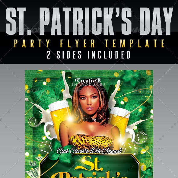 St. Patrick's Day Party Flyer Templates