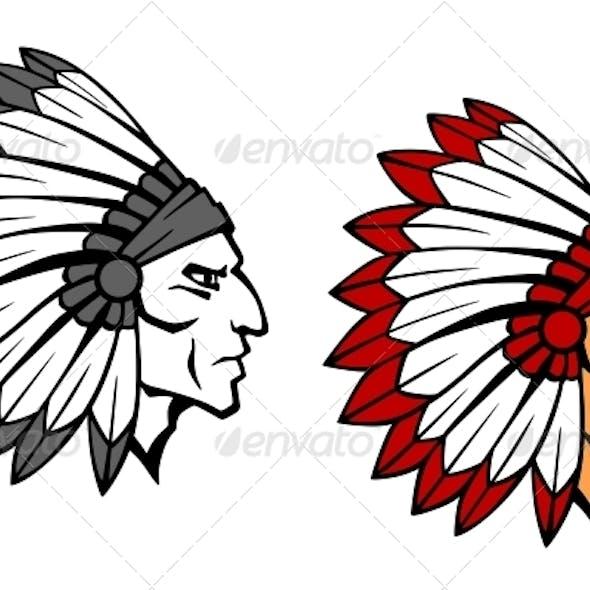 Brave Indian Warrior Mascot