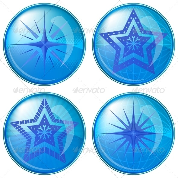 Buttons, Stars - Web Elements Vectors