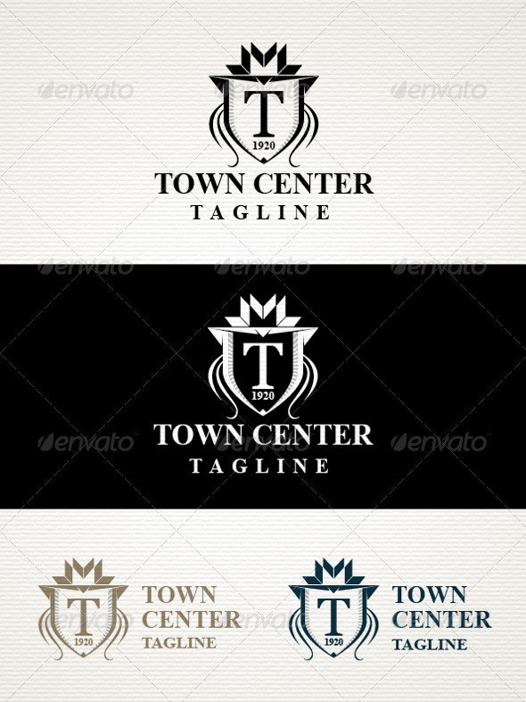 Town Logo - Crests Logo Templates