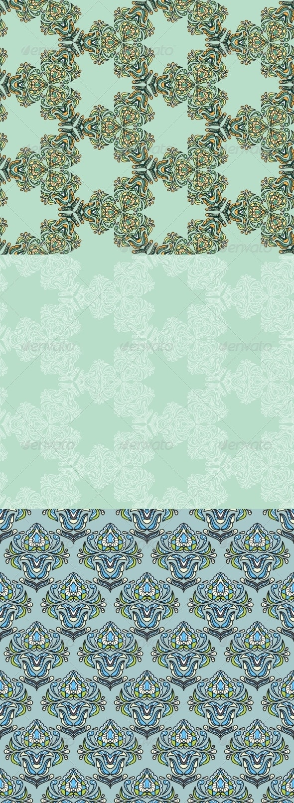 Seamless Abstract Kaleidoscope Patterns. - Patterns Decorative