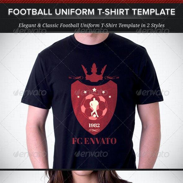 Football Team Uniform T-Shirt Template