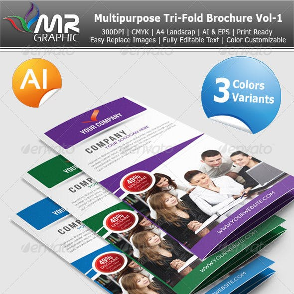 Multipurpose Tri-Fold Brochure Vol-1