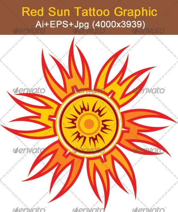 Abstract Sun - Decorative Symbols Decorative
