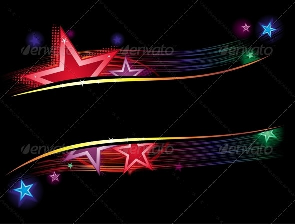 Background with Stars and Lines - Backgrounds Decorative