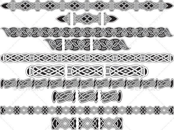 Seamless Celtic Patterns - Borders Decorative