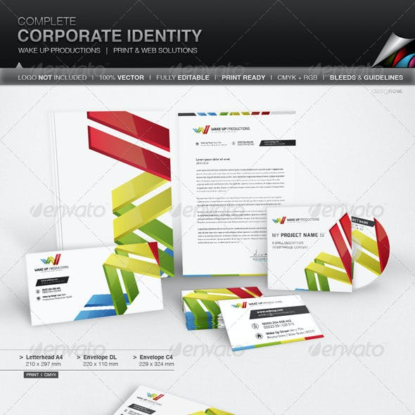 Corporate Identity - Wake Up