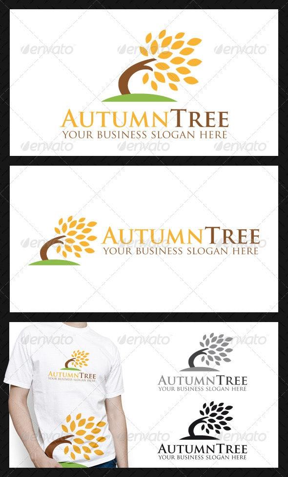 Autumn Tree Logo Template - Nature Logo Templates