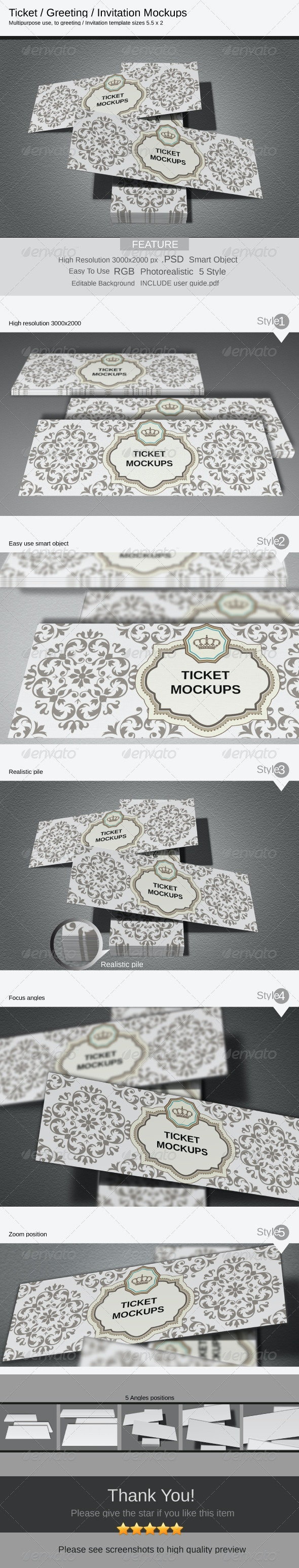 Ticket Mockups - Miscellaneous Print