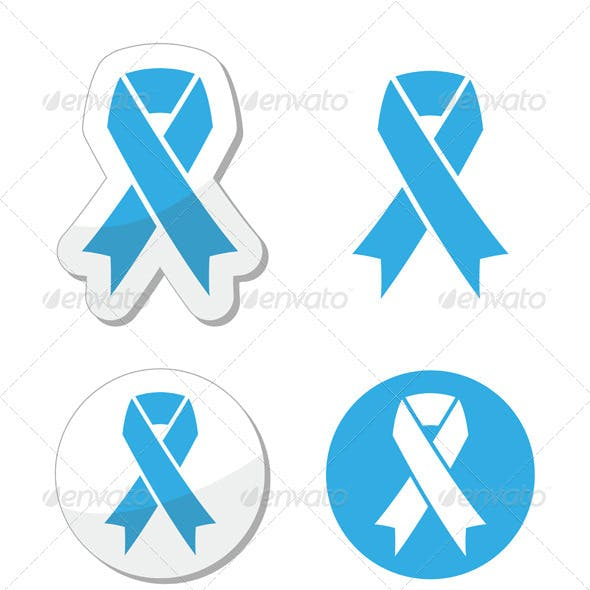 Blue Ribbon - Prostate Cancer, Childhood Cancer