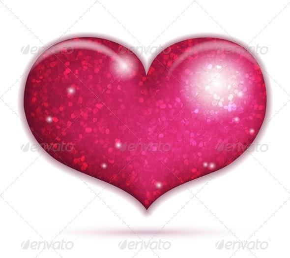 Big Sparkling Heart - Valentines Seasons/Holidays