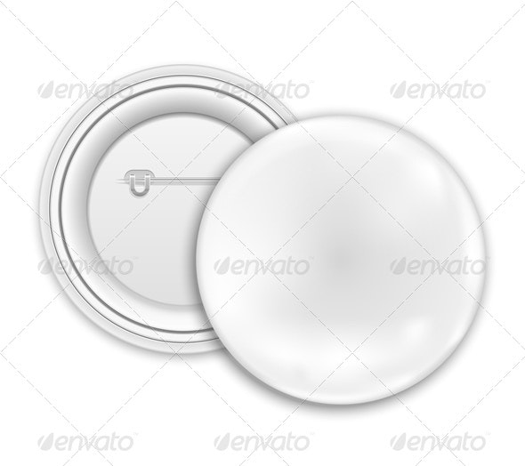 Blank Button Badge - Objects Vectors