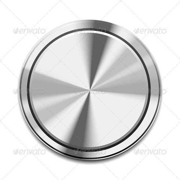 Metal Button Icon - Objects Vectors