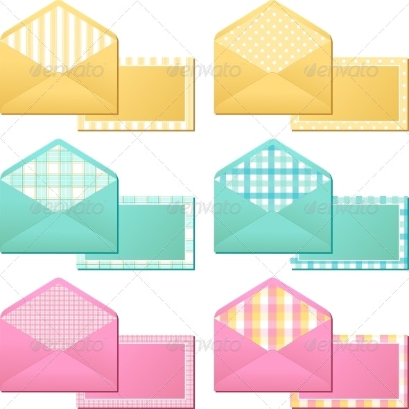 Collection of Old  Vintage Envelopes. - Man-made Objects Objects