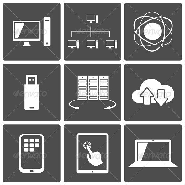 Network and Mobile Connections Icons - Web Elements Vectors