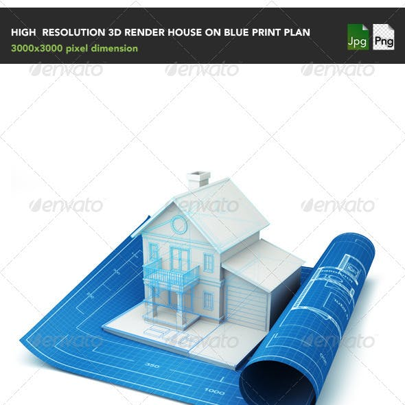 House on blue print