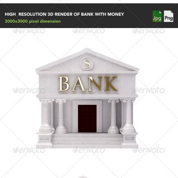 Bank with money
