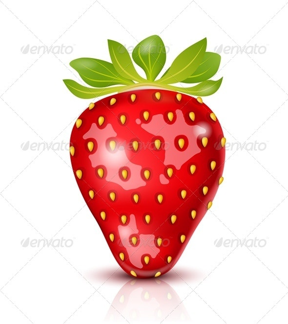 Vector Strawberry Isolated - Food Objects