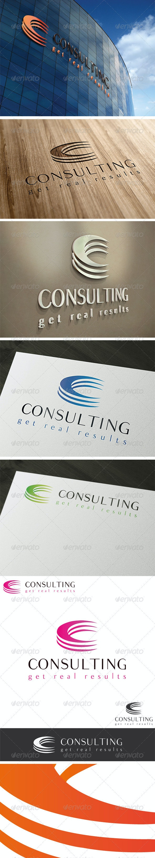 Consulting Letter C Logo Template - Letters Logo Templates