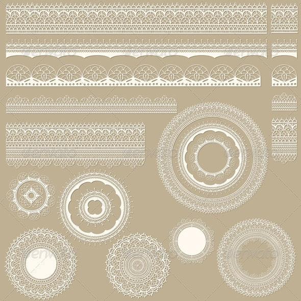 Vector Lacy Vintage Design Elements - Patterns Decorative