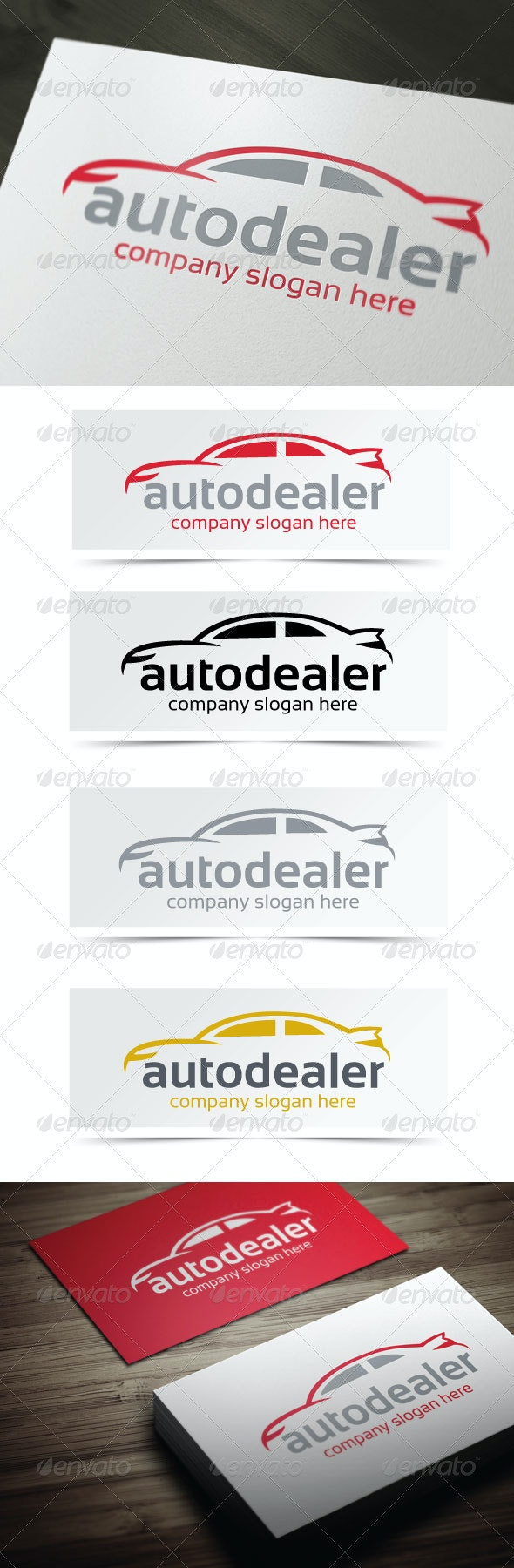Auto Dealer - Objects Logo Templates