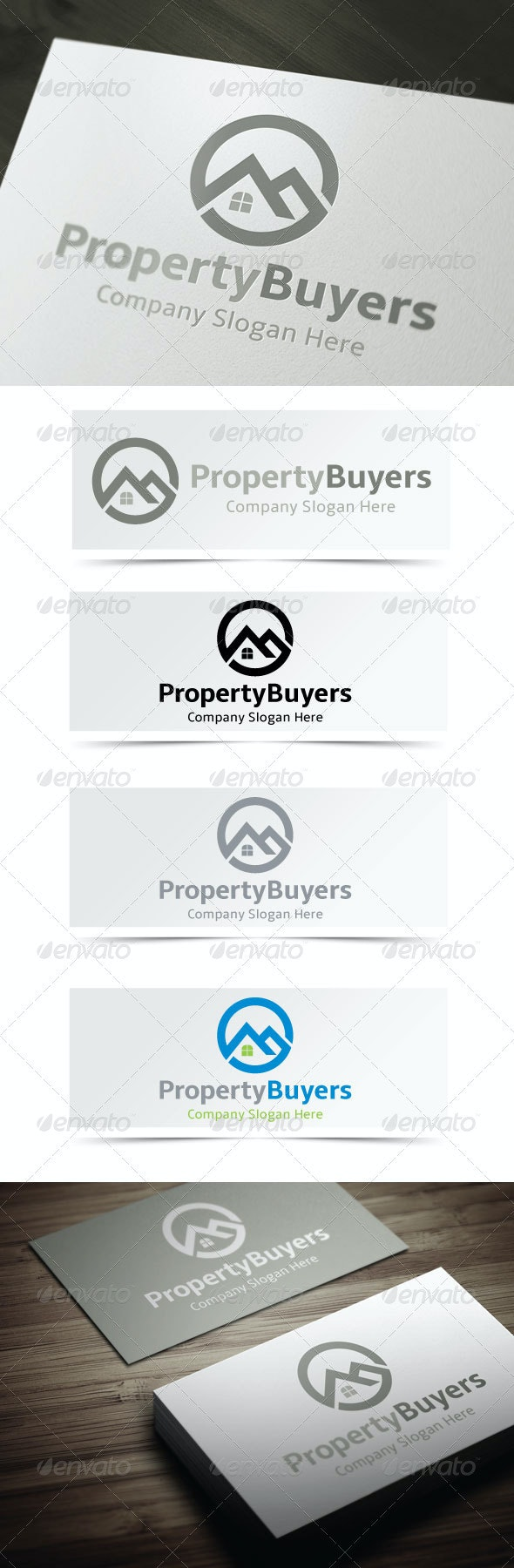 Property Buyers - Buildings Logo Templates