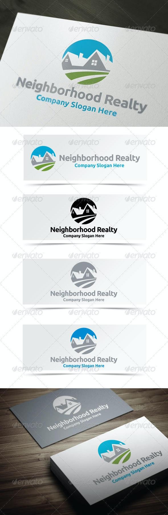 Neighborhood Realty - Buildings Logo Templates