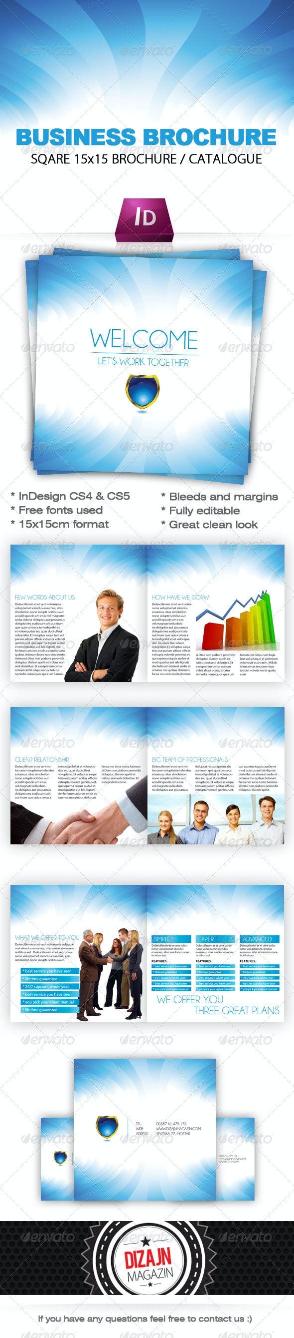 Blue Wave Business Brochure Catalogue (15x15cm) - Corporate Brochures