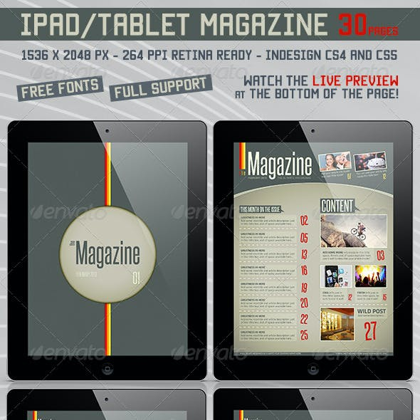 Pad/Tablet Retina Magazine 30 Pages