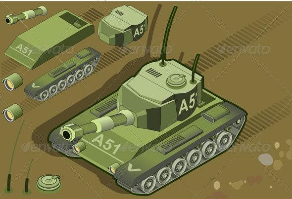 Isometric Tank - Miscellaneous Vectors