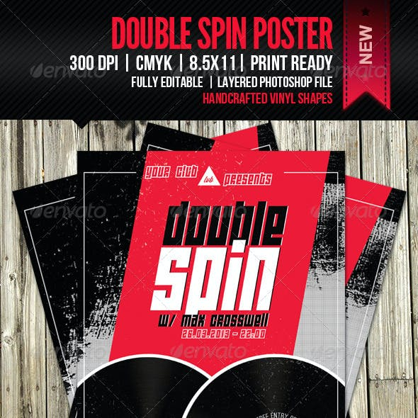 Double Spin Party Poster
