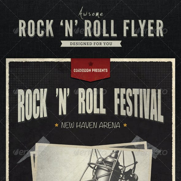 Rock 'N' Roll Flyer / Poster