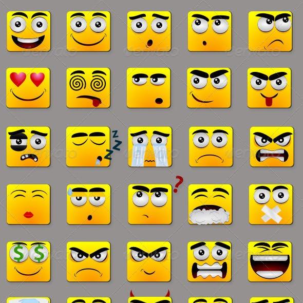 Square Emoticons