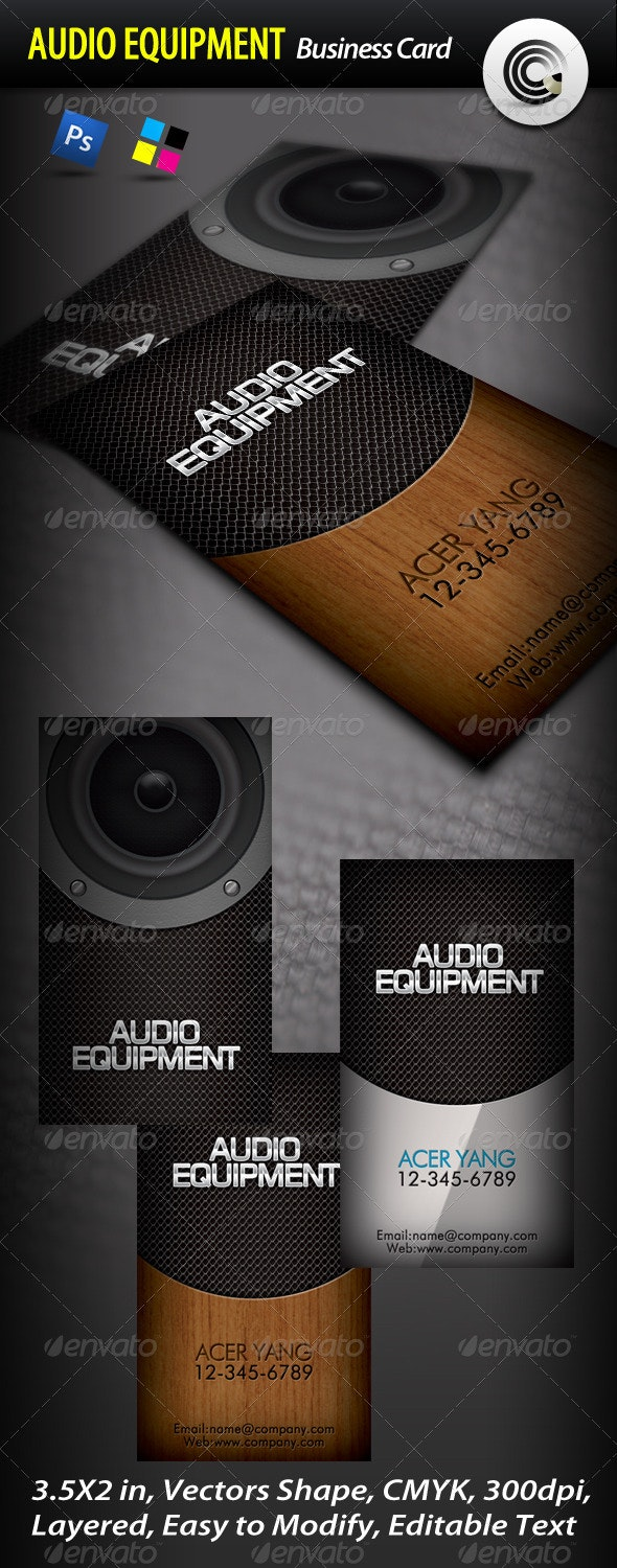 Audio Equipment Business Card - Real Objects Business Cards