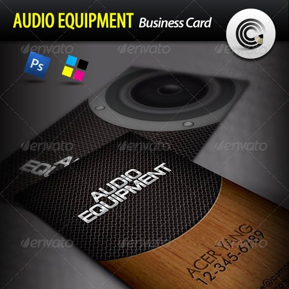 Audio Equipment Business Card